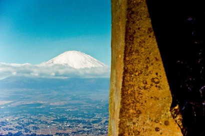 Japan 2001-Stone & Mount Fuji-1